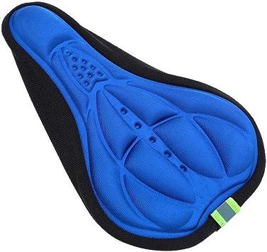 Lmeno reg; Ciclismo copertina sella per bicicletta MTB della coprisella bicicletta copri sella della bici confortevole Cuscino imbottitura 3D Silicone traspirante morbido Gel Pad Blu