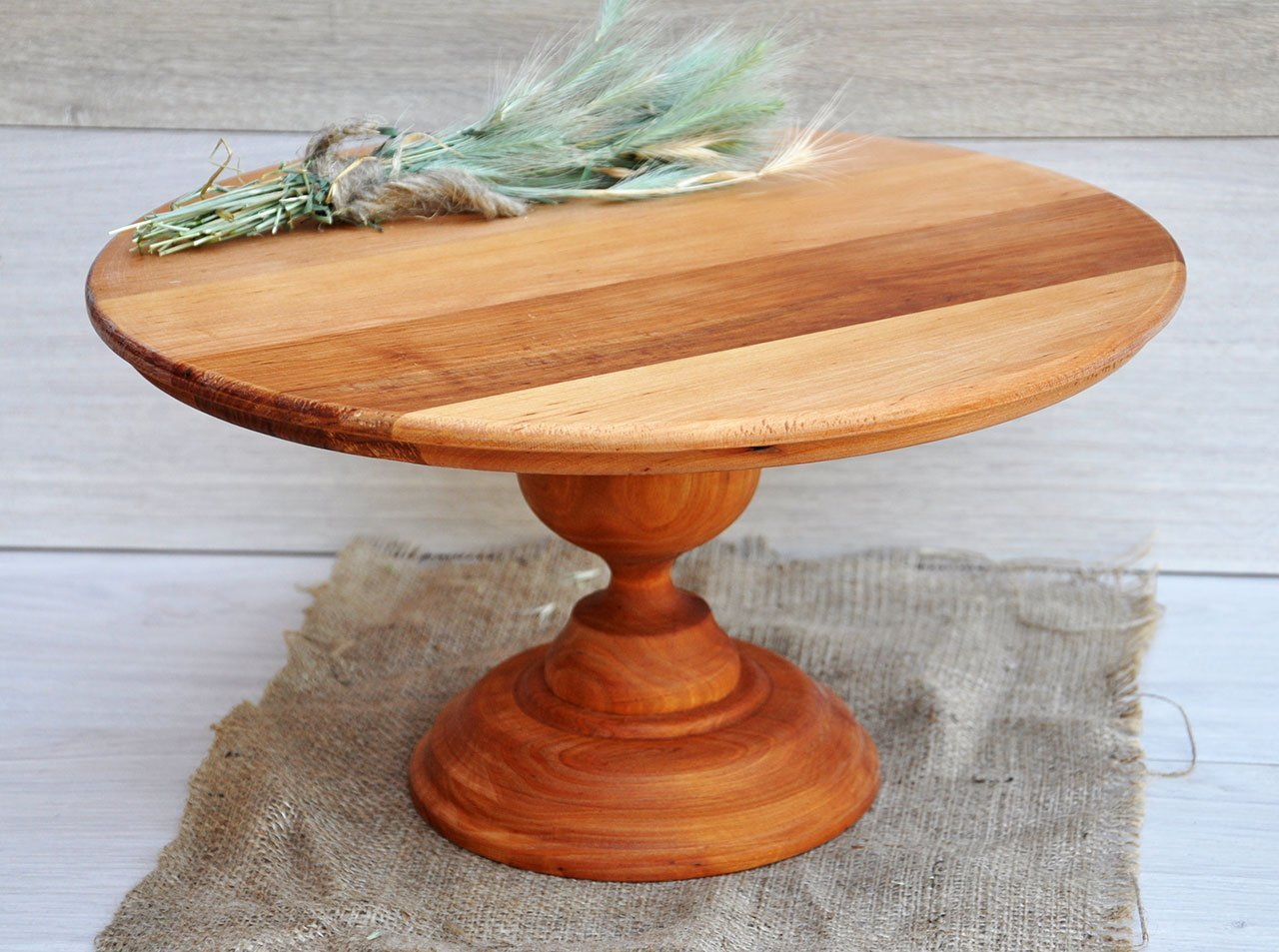 40cm Natural Wood cake stand Wood centerpieces for wedding rustic wedding centerpieces Wooden cake stands Rustic cupcake stand Rustic baby shower decorations