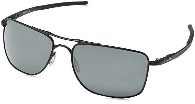 81a5aef89a7 Oakley Men s Gauge 8 Polarized Iridium Rectangular Sunglasses Matte black  62 mm