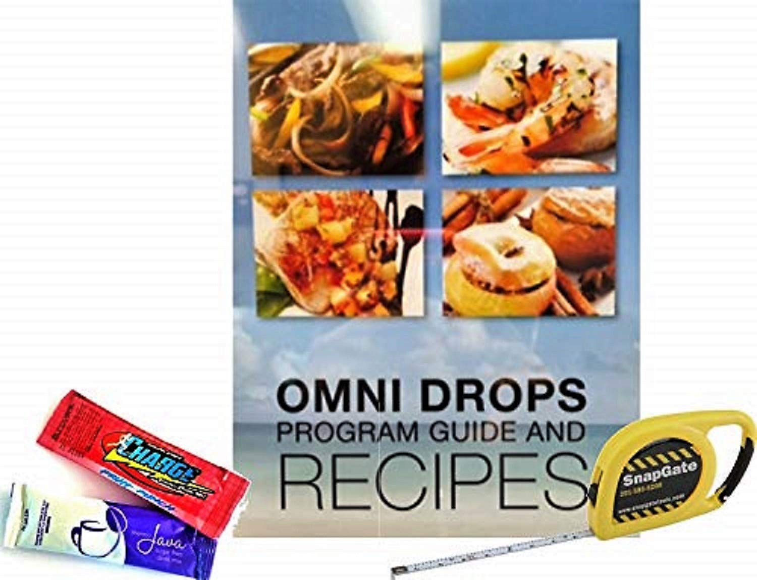 Omni Drop Program, Authentic Omnitrition - Basic Bundle Includes*** 4 oz Bottle Omni Drops with Vitamin B12 Program Guide, Samples and a Snapgate 10 Ft. Carabiner Tape Measure by Generic