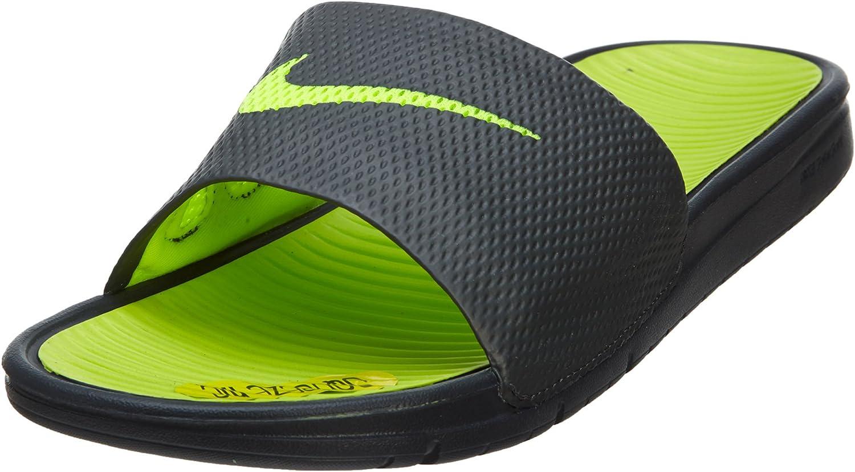 Amazon.com | Nike Men's Benassi Solarsoft Slide Anthracite ...