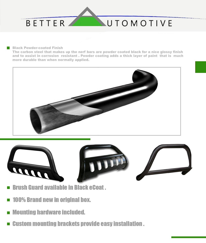 BETTER AUTOMOTIVE Compatible with 2011-2019 Ford Explorer 3 Bull BAR Black Bumper Brush Guard