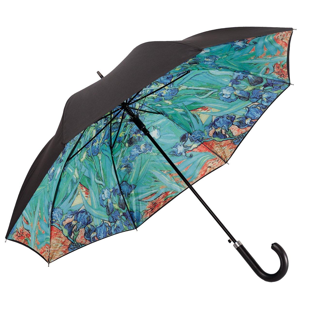Von LILIENFELD Paraguas Automática Mujer Motivo Arte Vincent Van Gogh: Lirio Doble Revestimiento