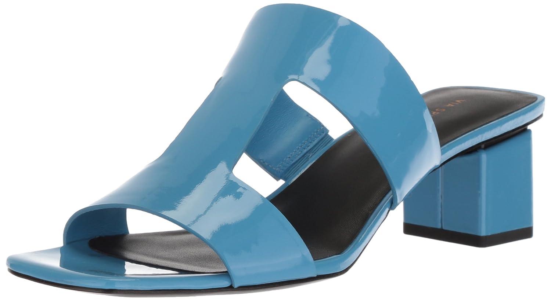 Via Spiga Women's Florence Block Heel Slide Sandal B0753667QY 8.5 B(M) US|Sky Patent