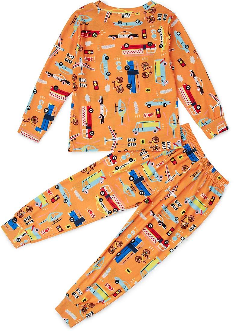 SchlafanzüGe Jungen Delphin Schlafanzug Bagger Langarm Zweiteilig Schlafanzug Halloween NachwäSche Set
