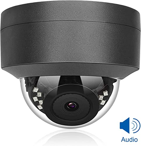 Anpviz 5MP H.265 IR Dome IP Camera PoE with Microphone, Audio, IP Security Camera Night Vision 98ft, Motion Alert, Weatherproof IP66 Indoor Outdoor ONVIF Compliant, Wide Angle 2.8mm Hikvision Compatib
