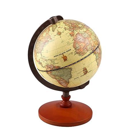 Ttktk Mappamondo Antico Con Base In Legno In Inglese 6 Globe