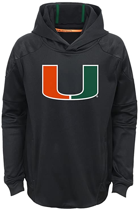 NCAA by Outerstuff NCAA Miami Hurricanes Youth Boys  quot Mach quot  Pullover  Hoodie dd69e690e