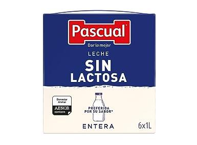 Pascual Leche Sin Lactosa Entera - Paquete de 6 x 1000 ml - Total: 6000 ml: Amazon.es: Alimentación y bebidas