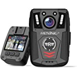 """Rexing P1 Body Worn Camera, 2"""" Display 1080p Full HD, 64G Memory,Record Video, Audio & Pictures,Infrared Night Vision,Police"""