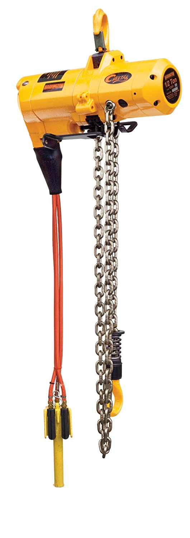 1//2 NPT Harrington Cheetah TCS Pendant Model Air-Powered Hoist 20 Lift 1.1 Hook Opening Hook Mount 30 fpm Max Lift Speed 17-7//8 Headroom 1 Ton Capacity 90 psi