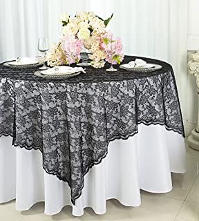 Wedding Linens Inc. 72 In X 72 In Lace Table Overlays, Lace Tablecloths  Square
