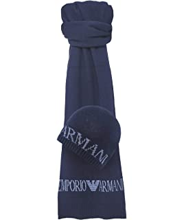 COMPLETO ARMANI JEANS SCIARPA + CAPPELLO 937504 CC788 (BLUE GRAPHITE ... bb5efb040e73