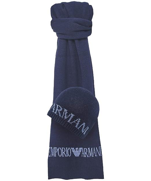 Emporio Armani CAPPELLO+SCIARPA blu TU  Amazon.it  Abbigliamento a302cf49e2ac