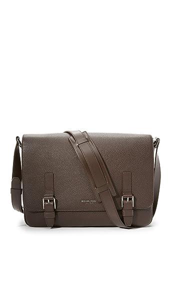 07f58720bd68 Michael Kors Men s Bryant Pebbled Leather Large Messenger Bag