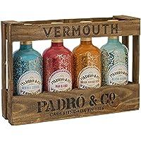 Vermouth Padró & Co en Caja de Madera - Paquete de 4 x 750 ml - Total: 3000 ml