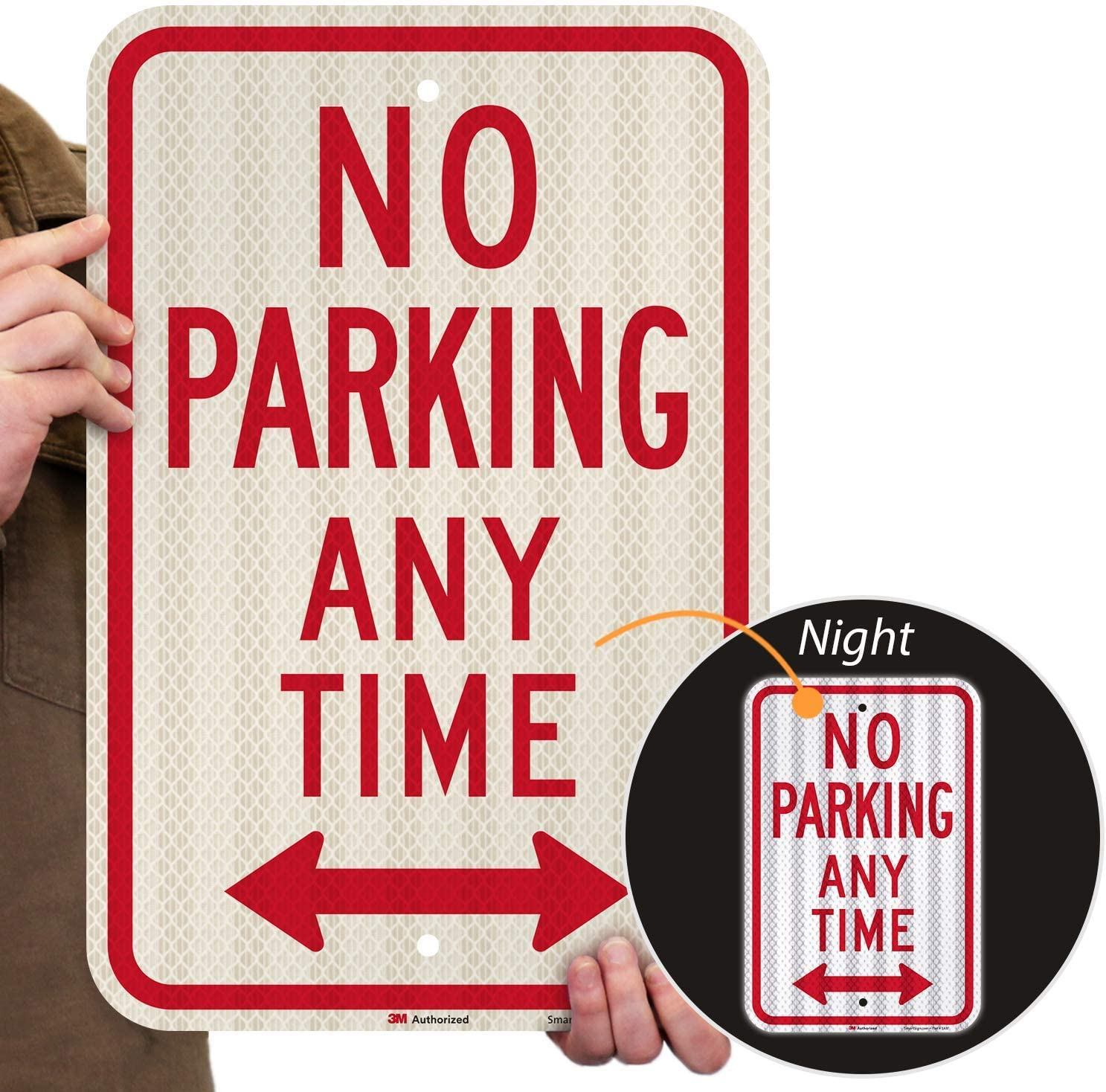 No Parking Sign 9 x 12 Inch 4 Pack