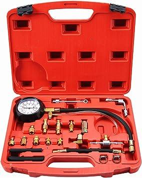 Fuel Injection Pump Injector Tester Test Pressure Gauge Gasoline Car Truck Tools