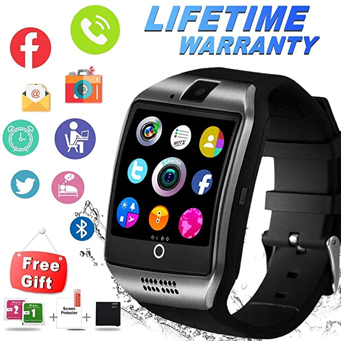 Bluetooth Smart Watch with Camera Sim Card Slot Touch Screen Smartwatch Unlocked Cell Phone Watch Sports Smart Wrist Watch for Android Phones Samsung ...
