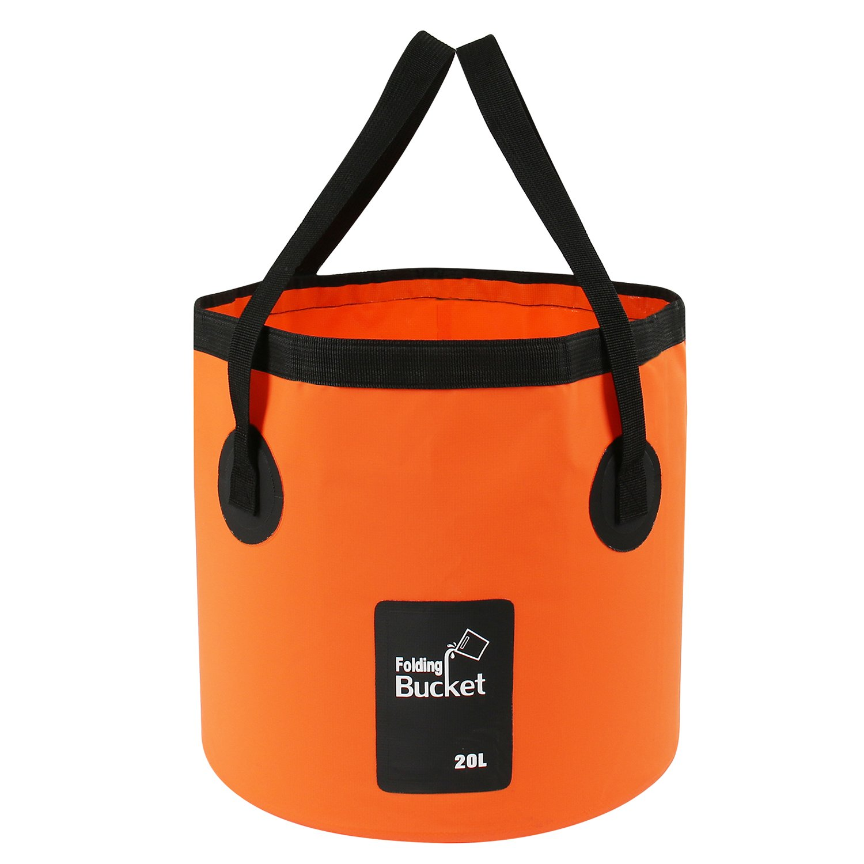 Folding bowl bucket foldable 15 lcamping fishing hiking l....