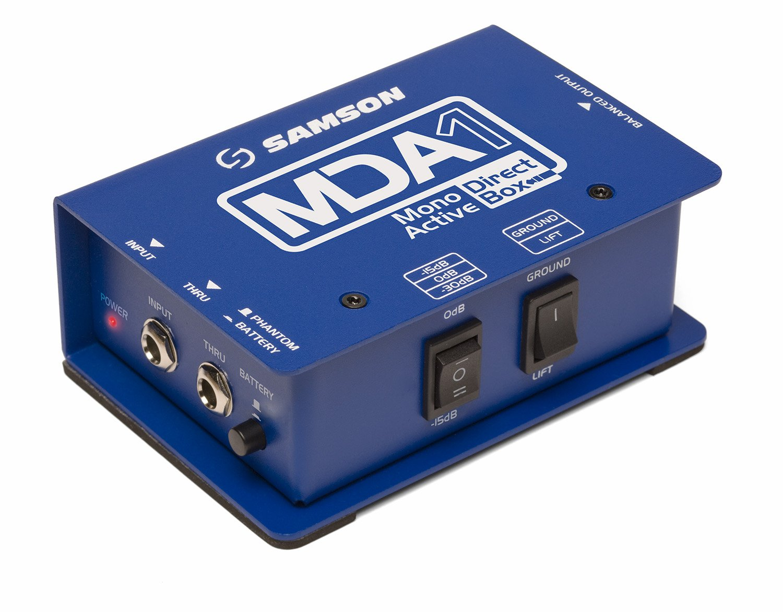 Samson MDA1 Mono Active Direct Box Samson Audio Samson Technologies SAMDA1