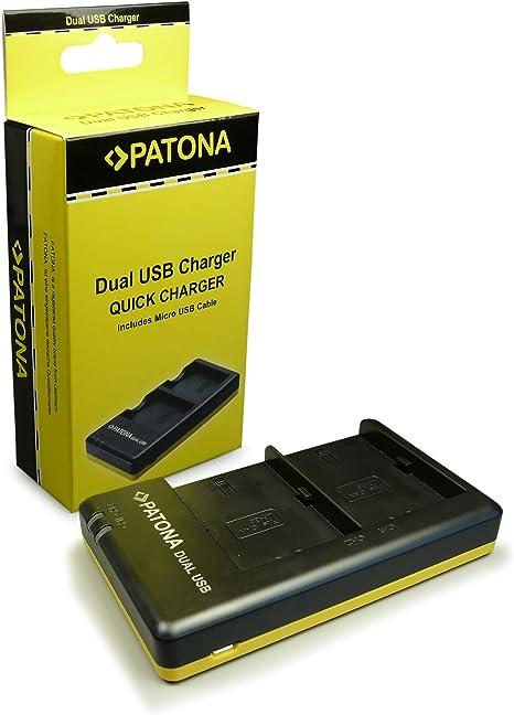 PATONA Cargador Doble para LP-E6 Bateria Compatible con Canon EOS ...