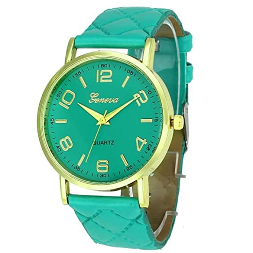 ... Relojes Mujerde Reloj Dorado Relojes Originales Hombre Reloj De Pulsera Analógico De Cuarzo Analógico Para Mujer Geneva Sunday: Amazon.es: Relojes