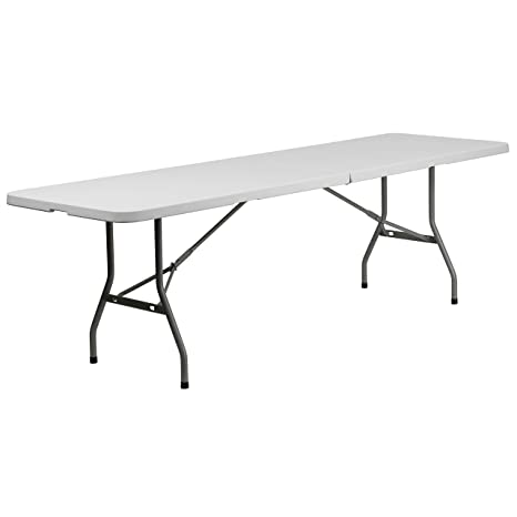Amazon.com: Mesa plegable moldeada, Plástico, Gris/Blanco ...