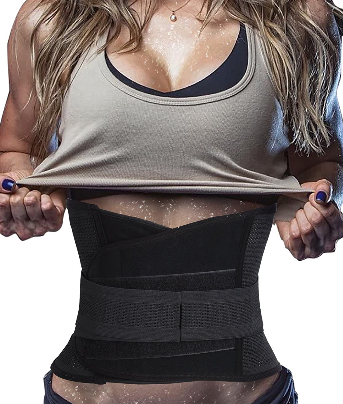 Ursexyly Waist Sauna Trimmer Belt, Hot Abdominal Trainer for Tummy Control Sweat