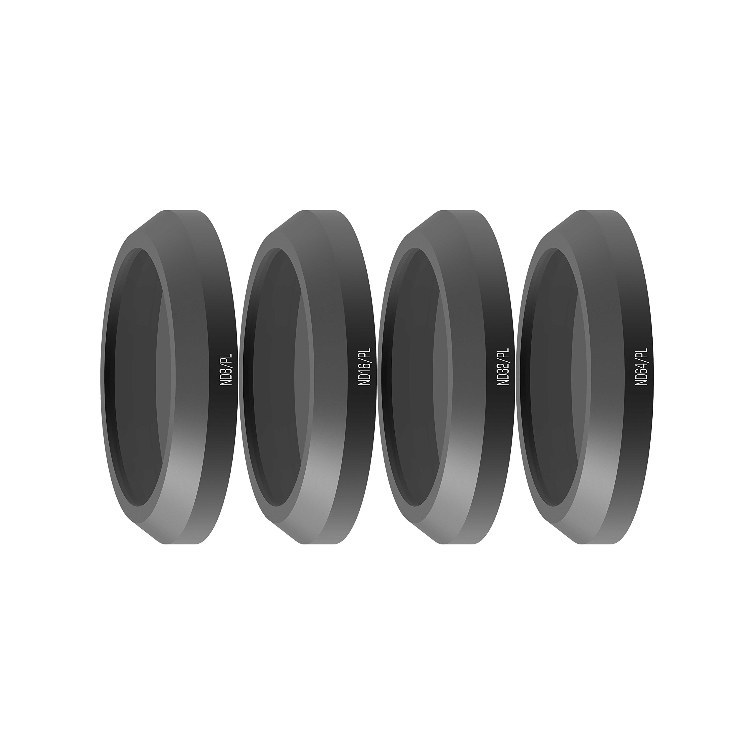 Freewell Bright Day-Camera Lens Filters Set 4Pack ND8/PL, ND16/PL, ND32/PL, ND64/PL Made for Used with Parrot Anafi Drone
