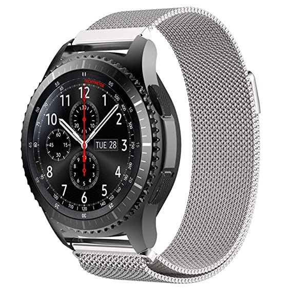 ProCase Replacement Band for Galaxy Watch (46mm) / Gear S3 Frontier/Gear S3 Classic Smartwatch, Stainless Steel Milanese Loop Metal Band Adjustable ...