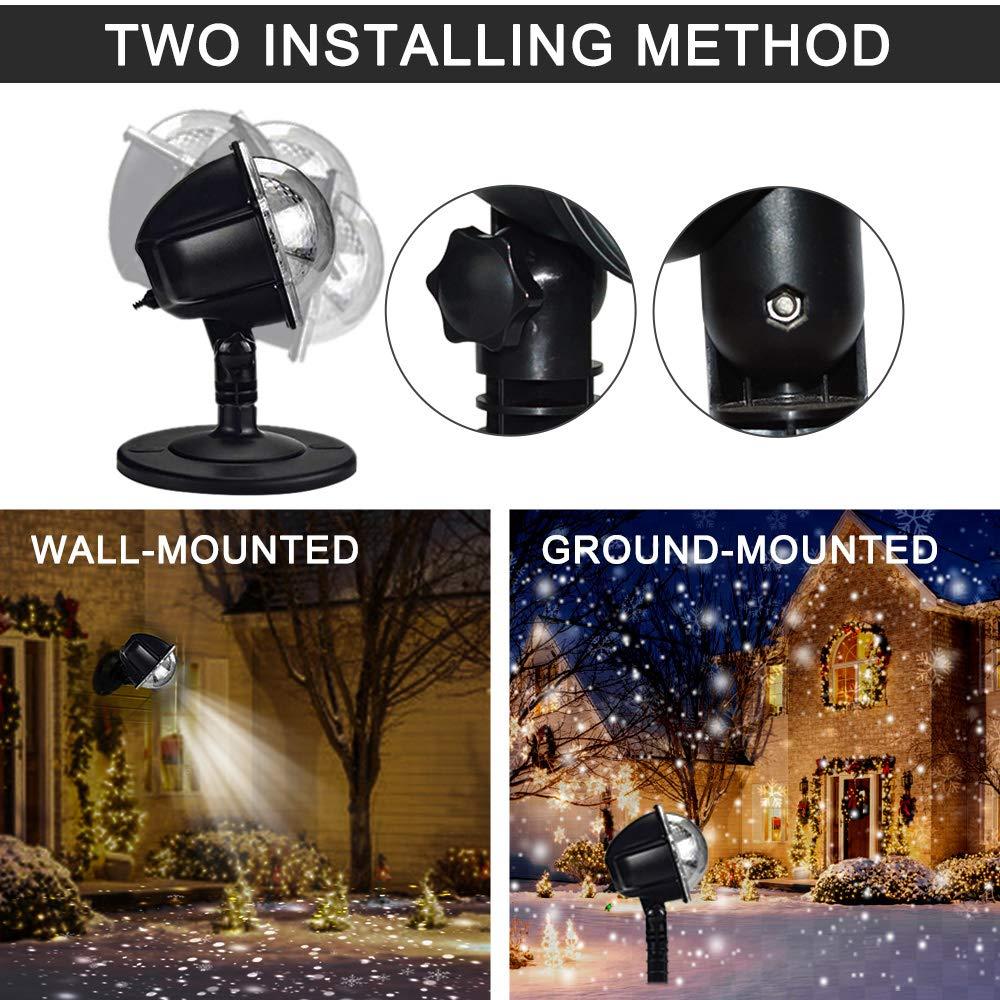 Schneepunkt Projektor Lampe Weihnachtsprojektor Licht Innen-Au/ßen Stimmungsbeleuchtung f/ür Weihnachten Hochzeit by Yinuo Mirror/® LED Projektionslampe Party