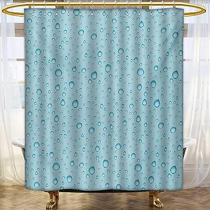 Lacencn AquaShower Curtains Mildew ResistantBig Small Water Rain Drops Liquidity Oceanic Pelagic