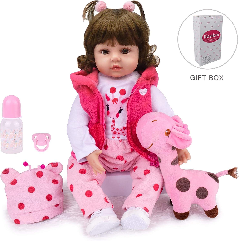 Kaydora Reborn Baby Doll 22 inch Lifelike Baby Reborn Toddler Girl