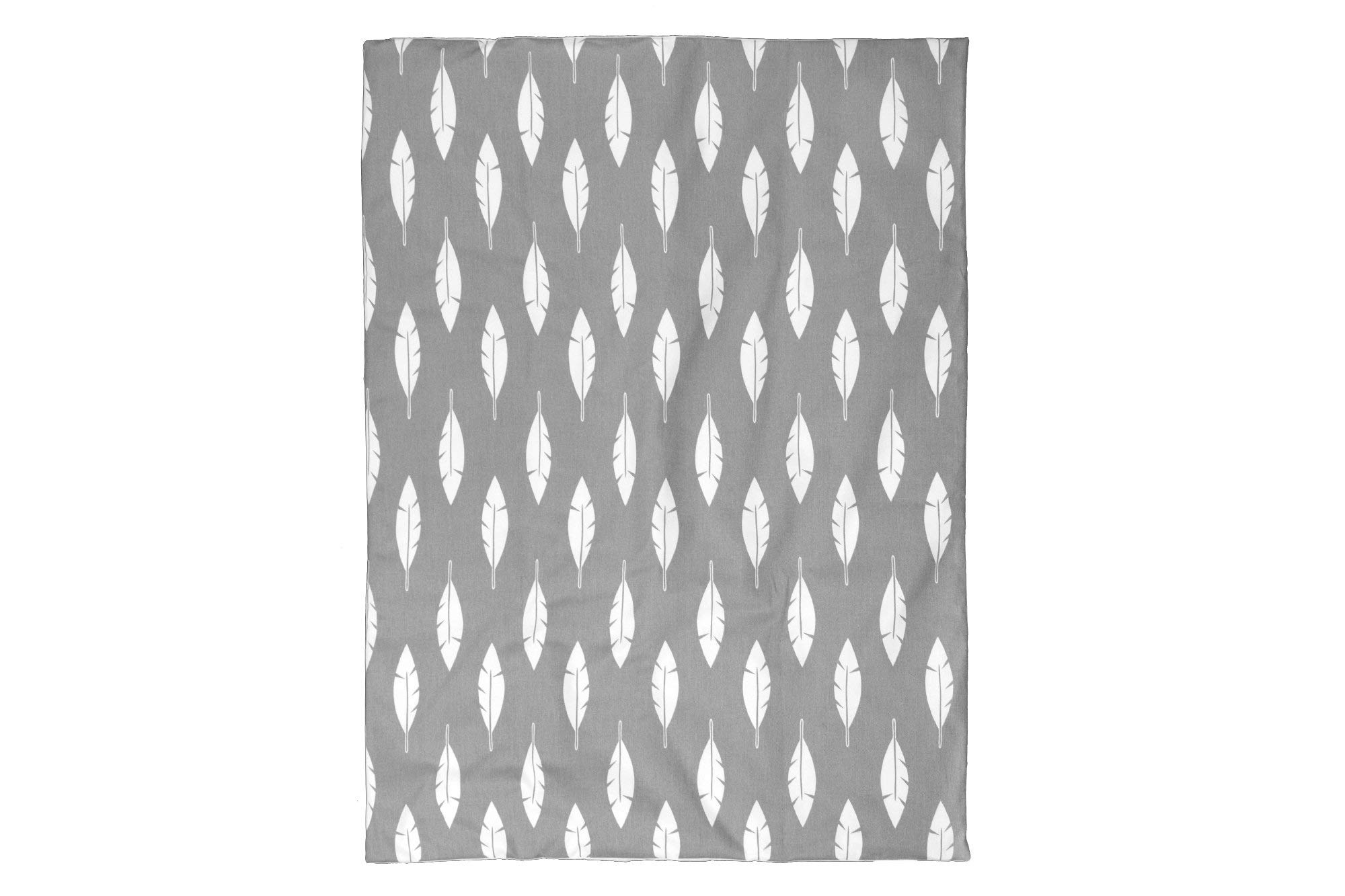 BOOBEYEH & DESIGN Baby Crib Bedding 4 Piece Set, Perfect for Baby Girls and Boys, Includes Gray and White Feather Design, Fitted Sheet, Crib Comforter, Comforter Cover, Skirt. by BOOBEYEH & DESIGN (Image #2)