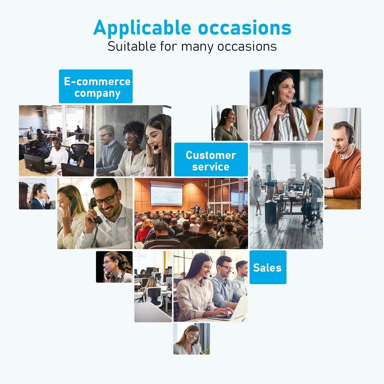Samsung Skype Handy-Headset mit Mikrofon Computer 3,5 mm PC-Kopfh/örer f/ür iPhone Softphone Ger/äuschunterdr/ückung und Anrufsteuerung Call-Center B/üro /… Business