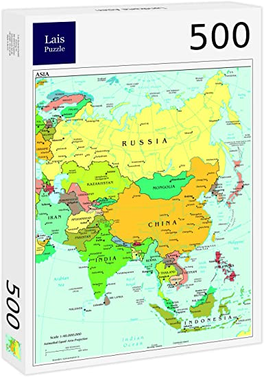 Lais Jigsaw Puzzle World map in English