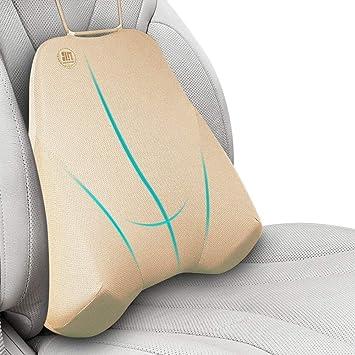 Ecloud Shop ® Cojín De Soporte Lumbar para coche y reposacabezas almohada Kit-Fit