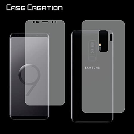 Samsung Galaxy S9 Plus 2018 Front Back Protection, Case Creation TM Front Back Screen Guard Scratch Protector for Samsung Galaxy S9 Plus/Galaxy S9 Plu