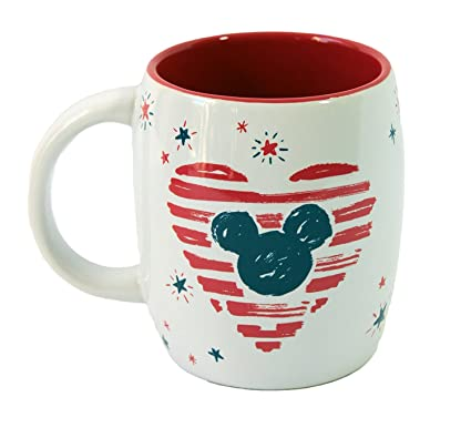 b71848d3e Image Unavailable. Image not available for. Color: Disney Parks Starbucks  Americana Mickey Mouse Heart Mug