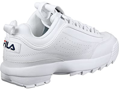 07987882db0 Fila Womens White Disruptor Low Trainers  Amazon.co.uk  Shoes   Bags