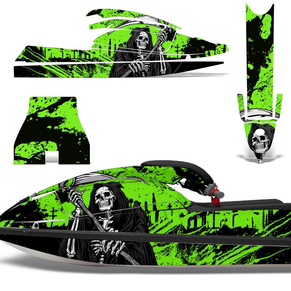 Amazon com kawasaki sx750 1992 1998 decal graphic kit jet ski wrap jetski sx 750 reaper green automotive