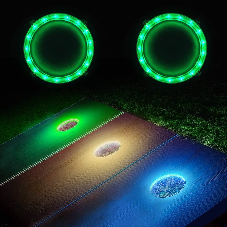 2Pcs Cornhole Board Night Light Corn Hole Bean Bag Toss Game Light Color Change