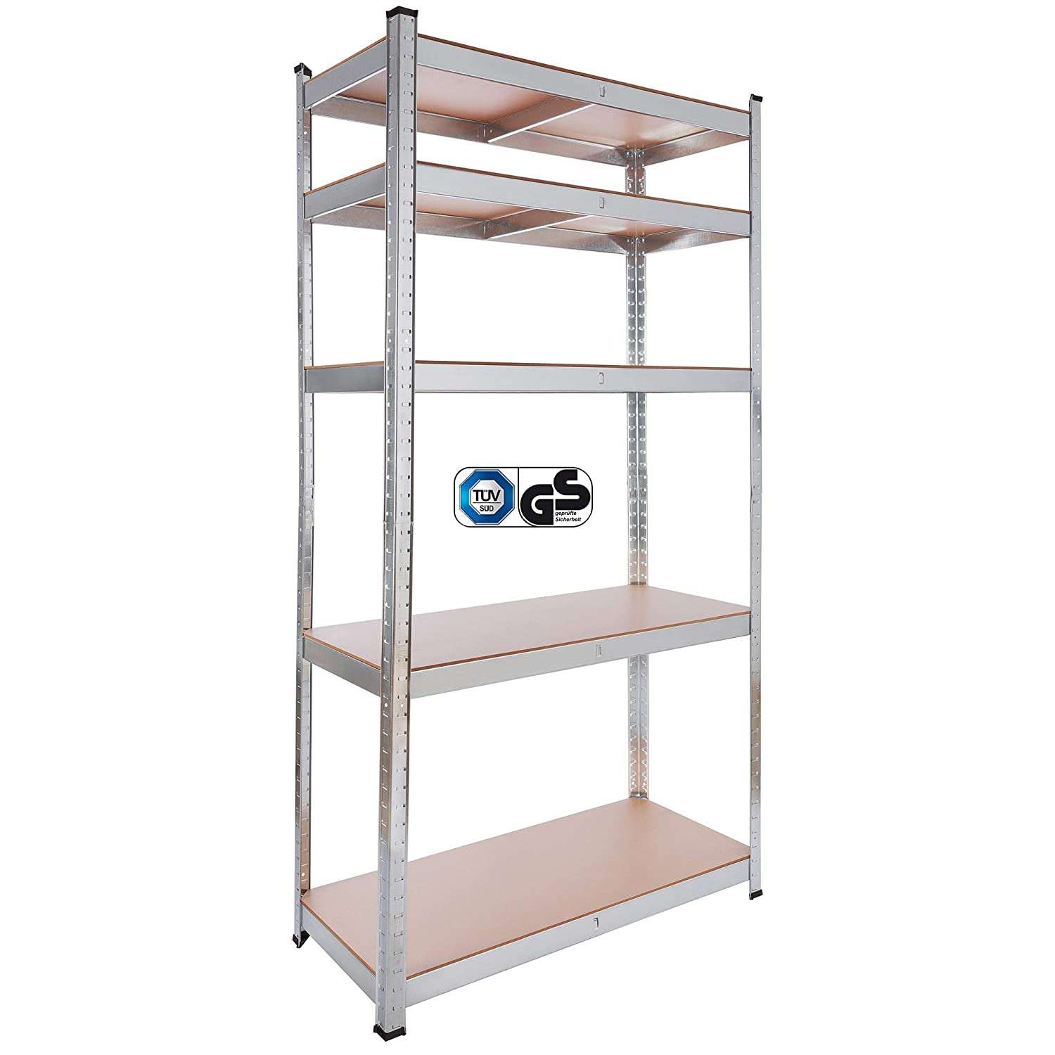 Arebos heavy duty shelving unit / 35.4 x 15.8 x 70.9 in (90 x 40 x 180 cm) / load capicity up to 1929 lbs (875 kg) / Easy Assembly Canbolat Vertriebs GmbH