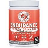 Silver Fern Brand Endurance - Pre Workout Energy Drink Mix Supplemnt Powder - Raspberry Lemonade - 1 Tub = 60 Servings - Boost Power, Energy & Mood - With D-Ribose, Alpha-GPC, Vitamin K2-7 & More (1)