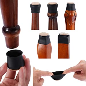 Chair Leg Protectors for Hardwood Floors,Camahoo Silicone Furniture Feet Caps Protection Cover, 32 Pcs Floor Pads for Chairs, Bottom Chair Pads for Reducing Noise