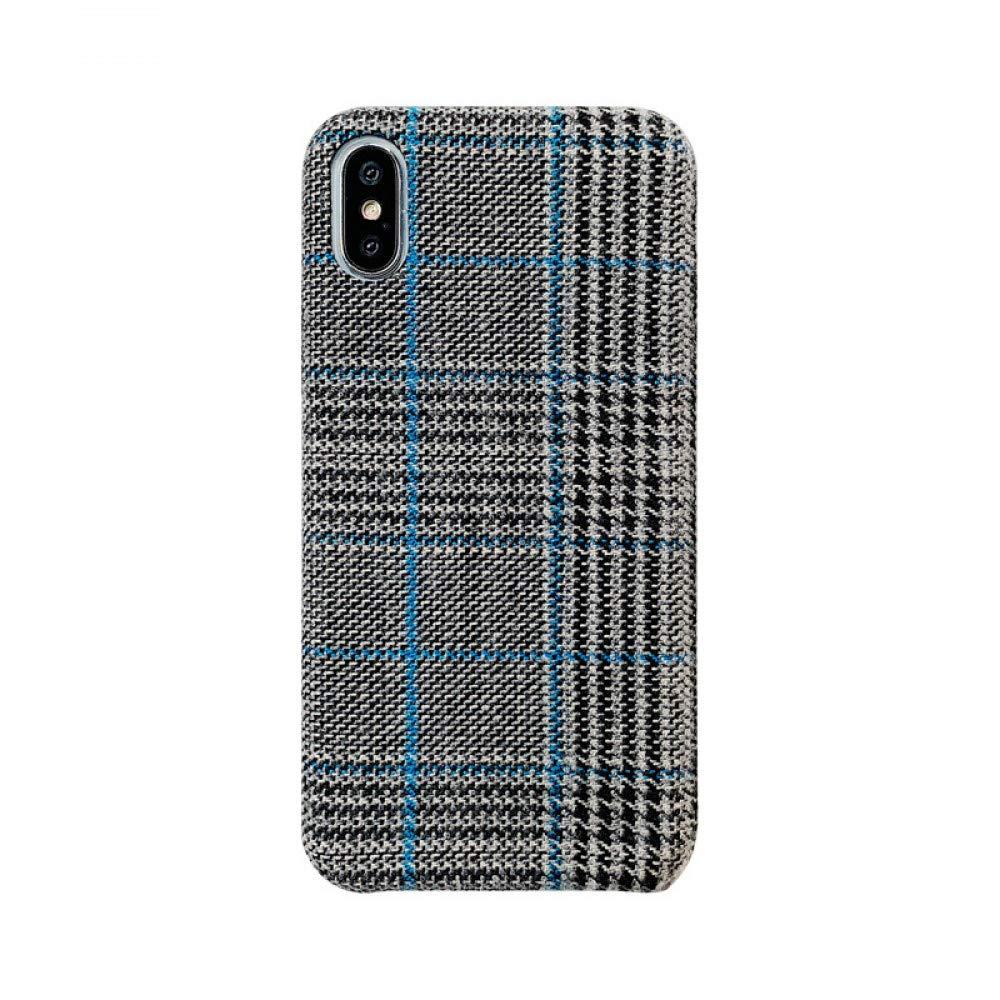 ERQINGT Etui pour Téléphone Portable Plaid Simple pour Iphonexs Max Mobile Shell, Coque Souple Femelle 8Plus / 7P / 6Sp