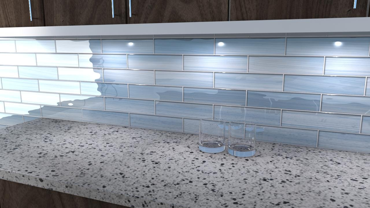 Big Blue Glass Tile Perfect For Kitchen Backsplashes And Showers Sample Amazon Com