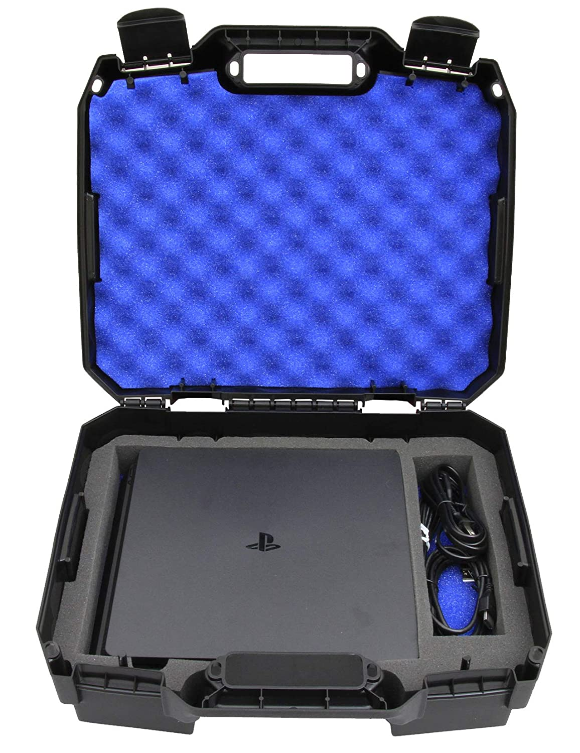 Casematix Bag Case Fits Playstation 4 Slim 1tb Console and Accessories PS4 Slim Console , Controller , Wireless Move Motion , Games , Cables Only , ...