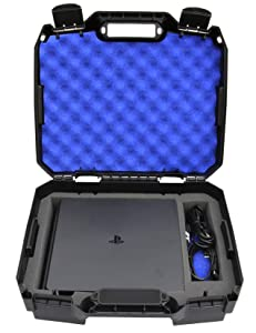 Casematix Bag Case Compatible with Playstation 4 Slim 1tb Console and Accessories such as Controllers , Wireless Move Motion , Games , Cables , Will Not Fit Other PS4 Models , Includes Case Only